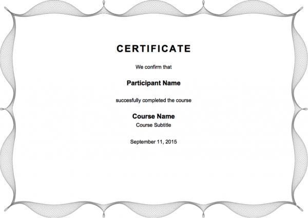 Certificates preview