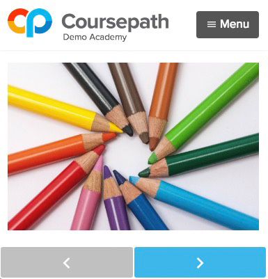 Mobile learning and course navigation in Coursepath