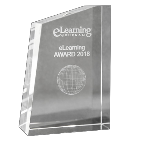 eLearning Award trophy